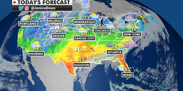 Record warm temperatures are expected over the East Coast (Fox News)