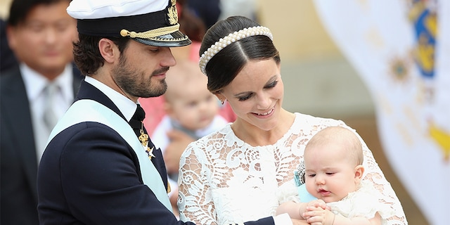 Prince Carl Philip of Sweden, Princess Sofia of Sweden and their son Prince Alexander attend the christening of Prince Alexander of Sweden at Drottningholm Palace Chapel on September 9, 2016 in Stockholm, Sweden. The couple now shares three sons.