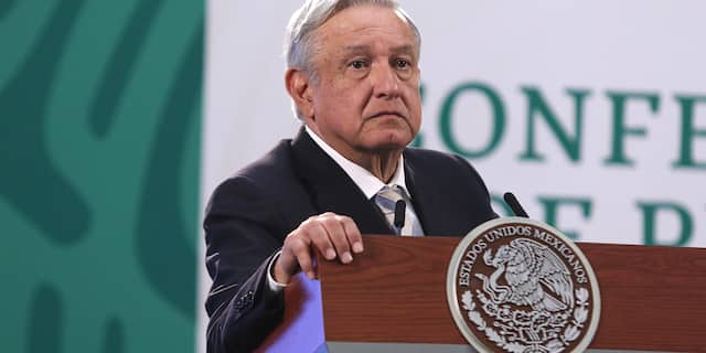 Mexico President Andres Manuel Lopez Obrador, gestures during his daily morning briefing, to speak about apply Covid-19 vaccine to elderly in Mexico, at National Palace, on March 17, 2021 in Mexico City. (Photo: Ismael Rosas / Eyepix Group/Barcroft Media via Getty Images)
