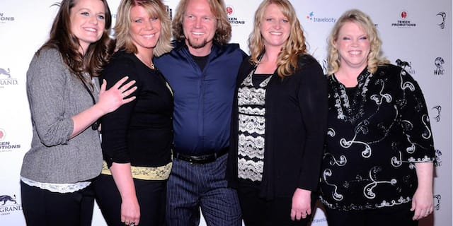Kody Brown with his four wives.