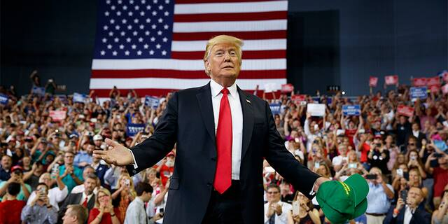 President Trump spoke at a campaign rally in Evansville, Ind.