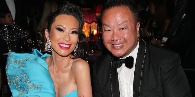 Christine Chiu and Dr. Gabriel Chiu attends the amfAR Cannes Gala 2019 at Hotel du Cap-Eden-Roc in May 2019 in Cap d'Antibes, France.