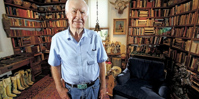 Forrest Fenn, an art dealer in New Mexico, first announced that he had buried a chest filled with gold and jewels in 2010. The treasure was finally found in 2020.(Luis Sanchez Saturno/Santa Fe New Mexican via AP, File)