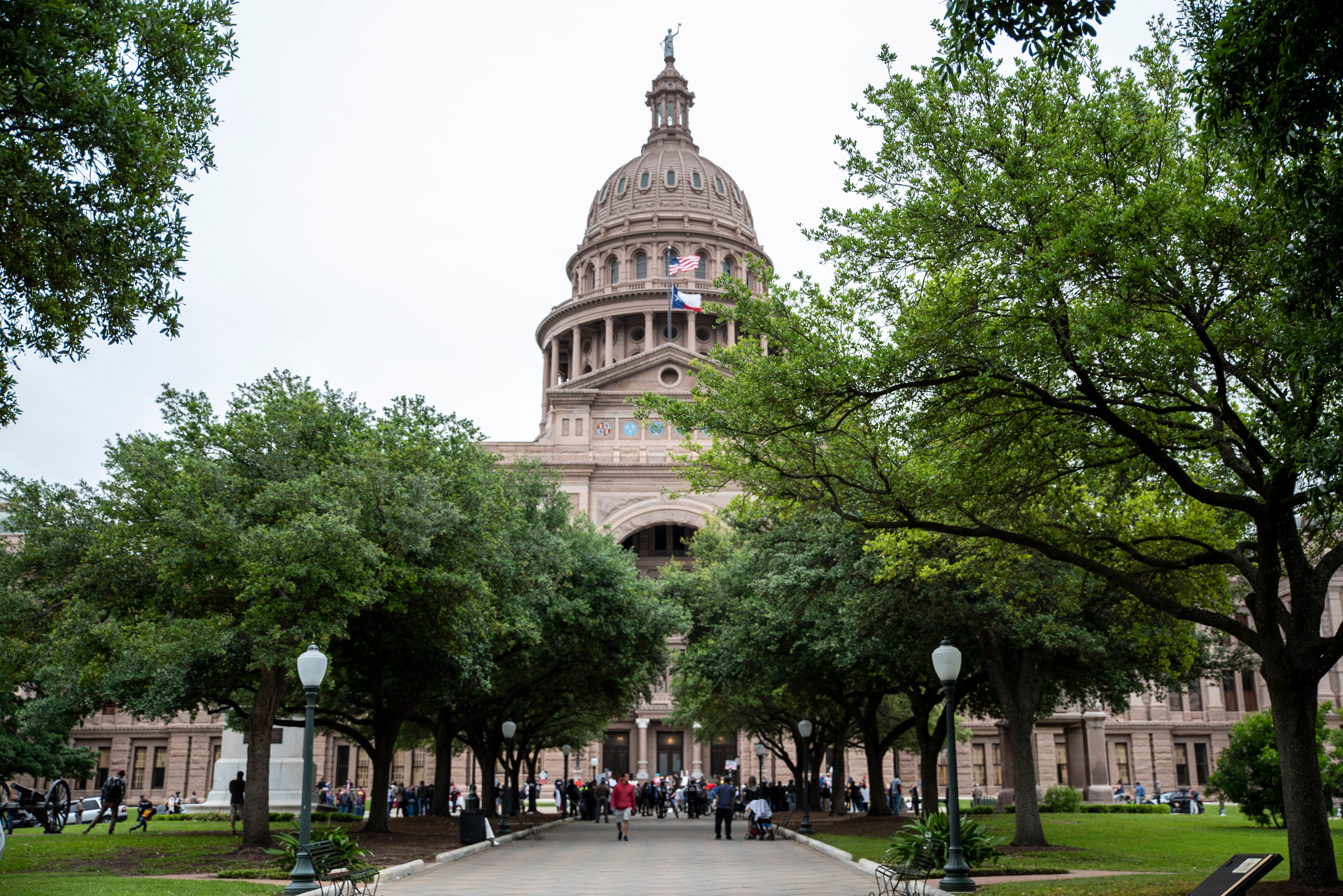 The Texas State Capitol building on April 18, 2020, in Austin.