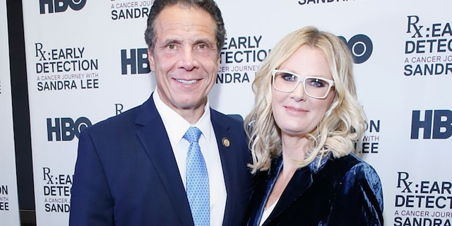 "New York Gov. Andrew Cuomo and Sandra Lee attend ""RX: Early Detection A Cancer Journey With Sandra Lee"" New York screening at HBO Theater on Oct. 2, 2018 in New York City. (Getty Images)"