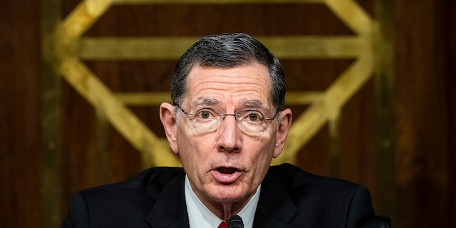 "Sen. John Barrasso (R-WY), former chairman of the Senate Environment and Public Works Committee, speaks during a hearing, May 20, 2020 on Capitol Hill in Washington, D.C. Barrasso slammed the Biden administration over the situation on the border in an interview with ""Sunday Morning Futures."" (Photo by Al Drago-Pool/Getty Images)"