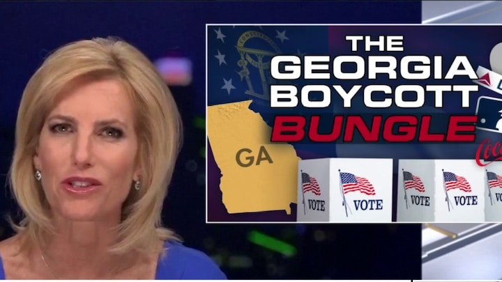 Ingraham: Stacey Abrams stuck in her own 'trap' with Georgia boycotts