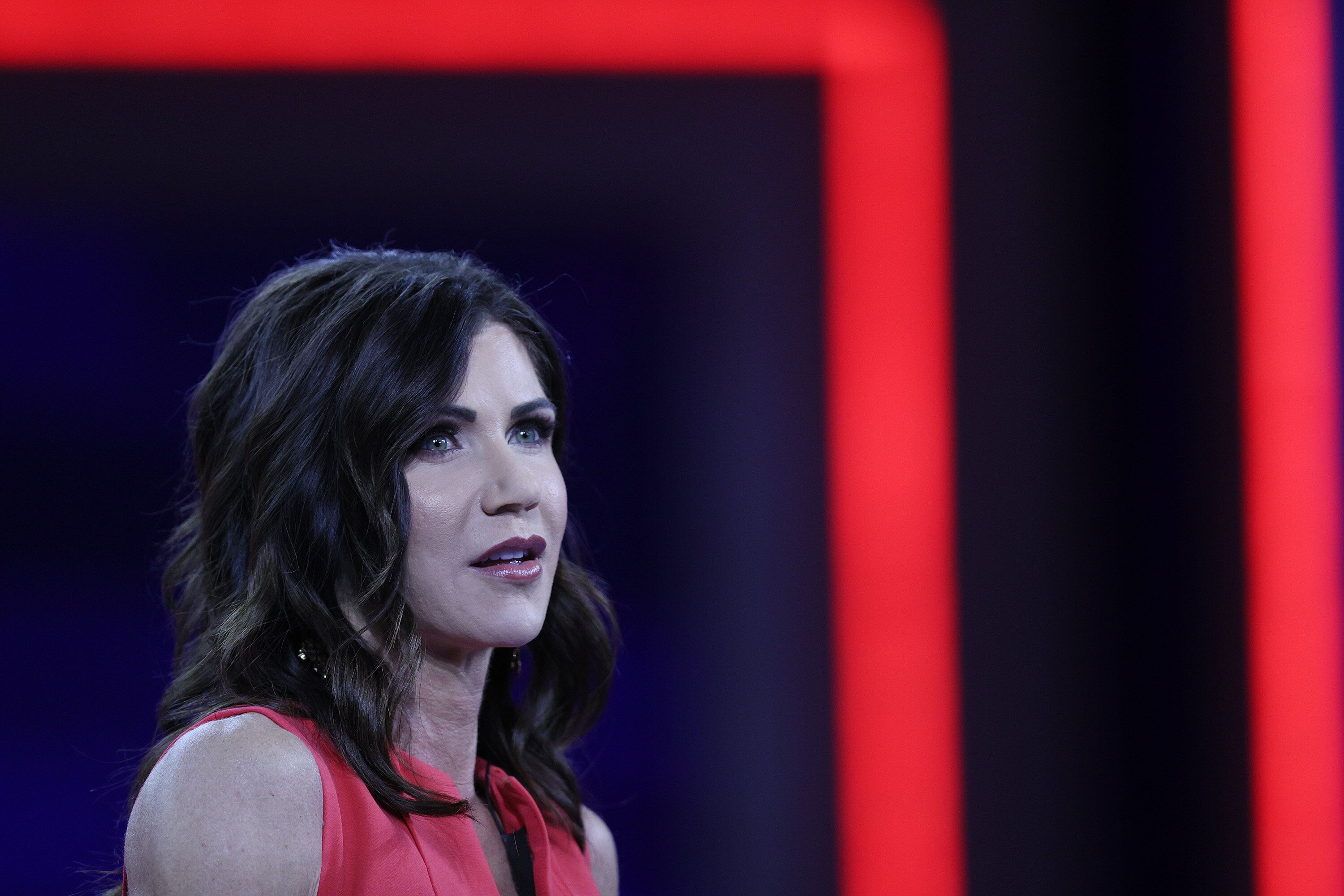 South Dakota Gov. Kristi Noem speaks at the Conservative Political Action Conference in February. (Photo by Joe Raedle/Getty