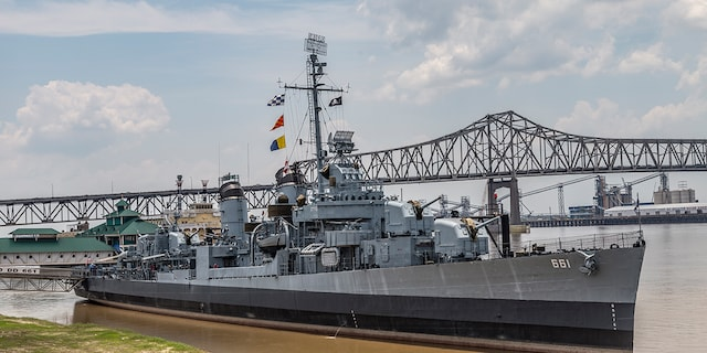 Fletcher Class destroyer museum ship in Baton Rouge, Louisiana.