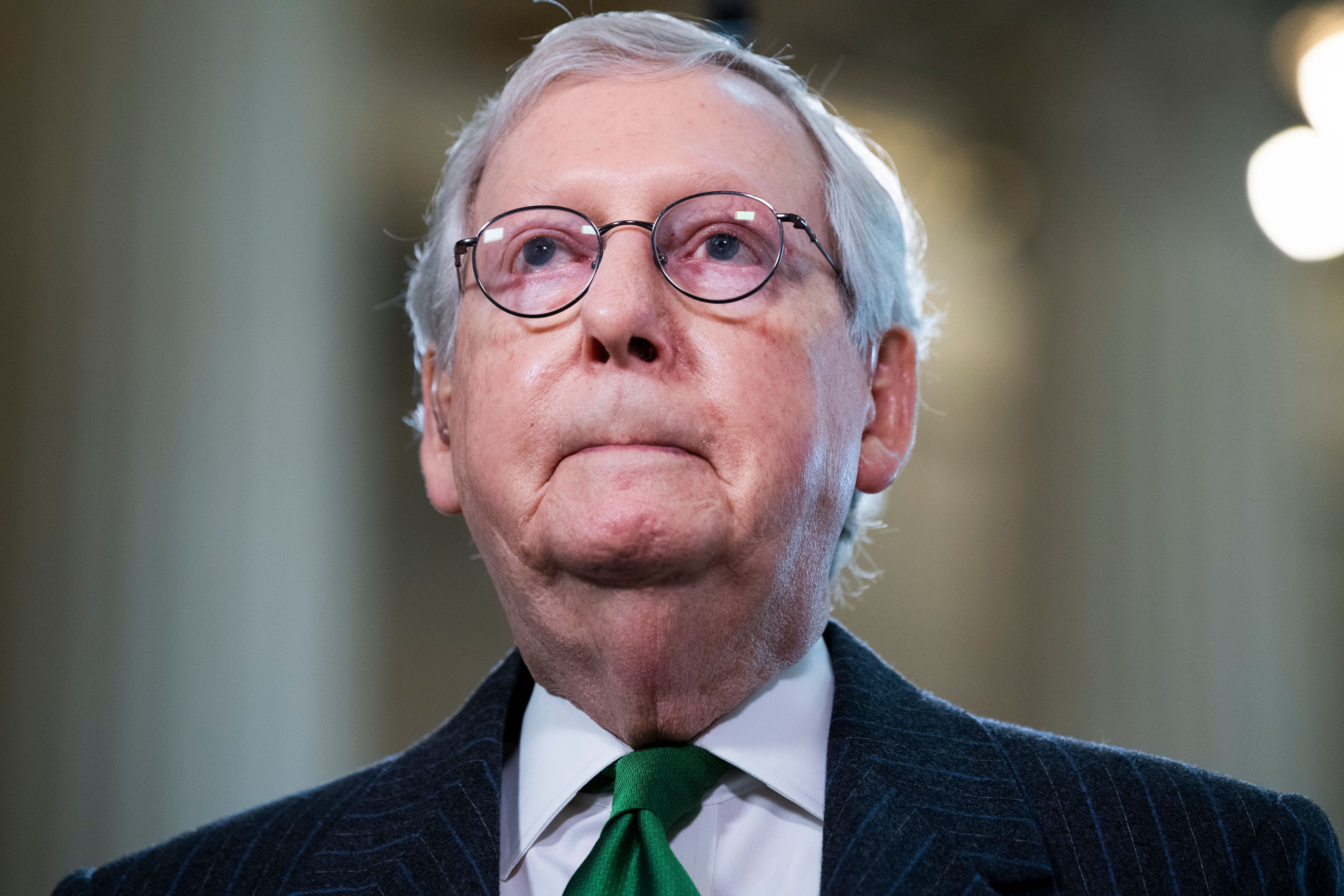 """""""My warning to corporate America is to stay out of politics,"""" Mitch McConnell (R-Ky.) said on April 6. """"I'm not talking"""