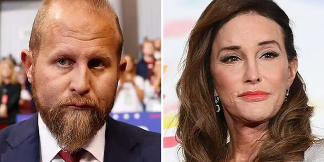 Donald Trump's former campaign manager Brad Parscale and Caitlyn Jenner.