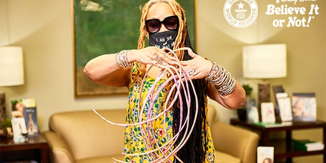 Ayanna Williams, from Houston, Texas, has held the record for the woman with the world's longest fingernails since 2017. She got her fingernails cut for the first time since the early 1990s over the weekend.