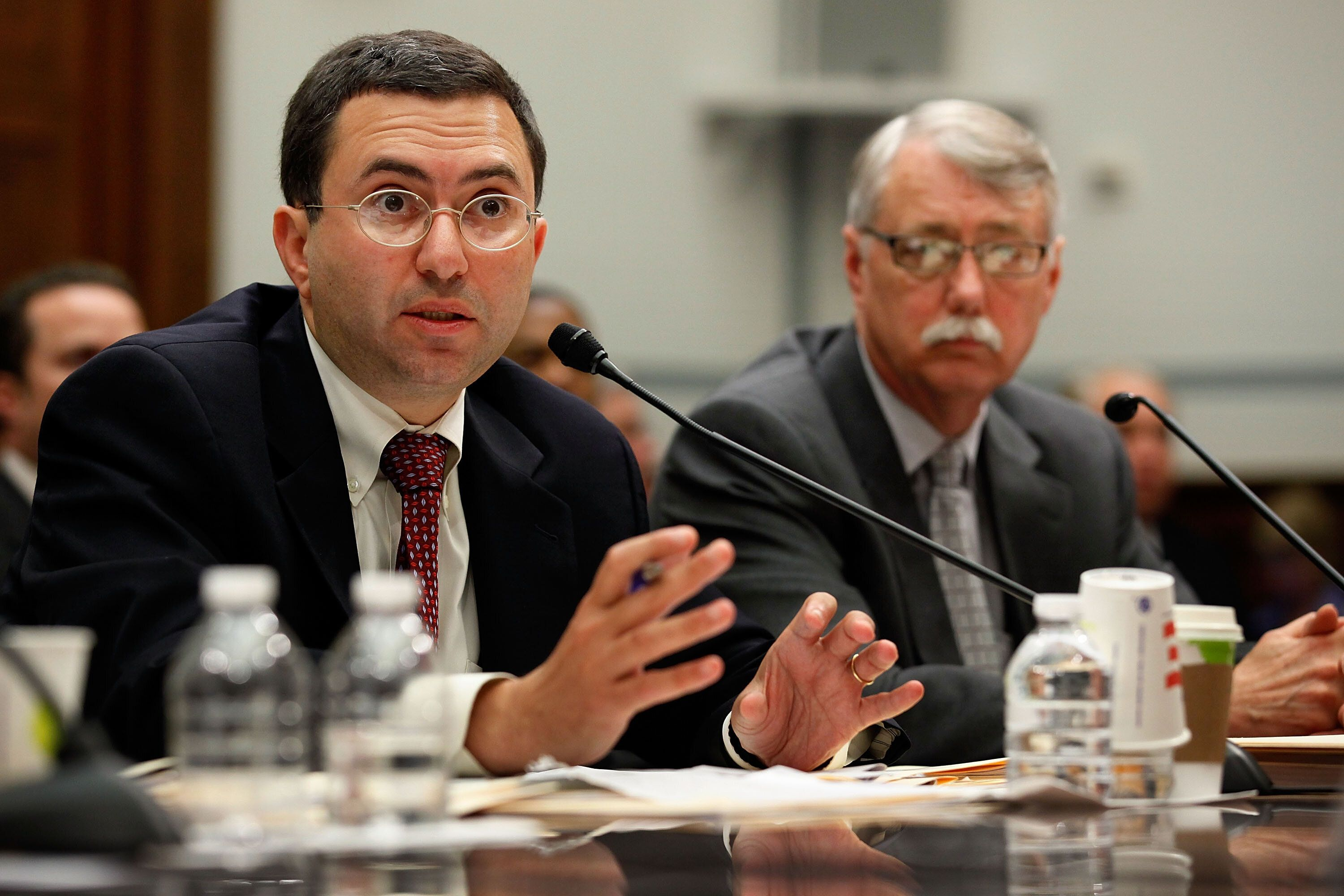 Principal Deputy Food and Drug Administration Commissioner Joshua Sharfstein (left) and Acting Associate FDA Commissioner for