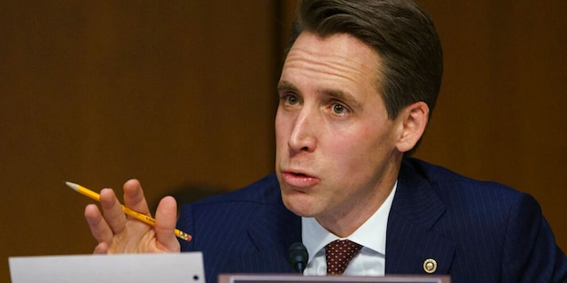 Sen. Josh Hawley, R-Mo., plans to introduce a bill Monday that would ban major tech companies from selling products on an online marketplace that they run.