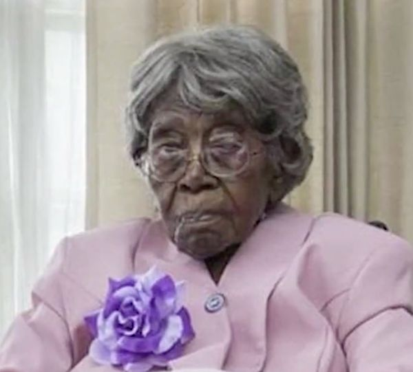 Hester Ford on what is believed to be her 116th birthday.