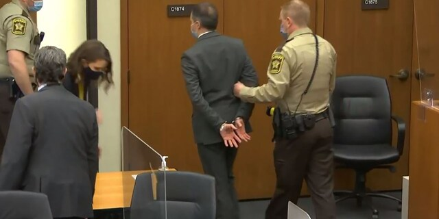 Derek Chauvin is removed from the courtroom.