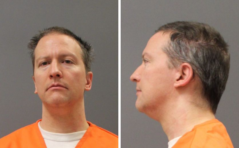 Derek Chauvin's prison system mugshot was taken Tuesday after a jury convicted him of three counts in the May 25, 2020, murde