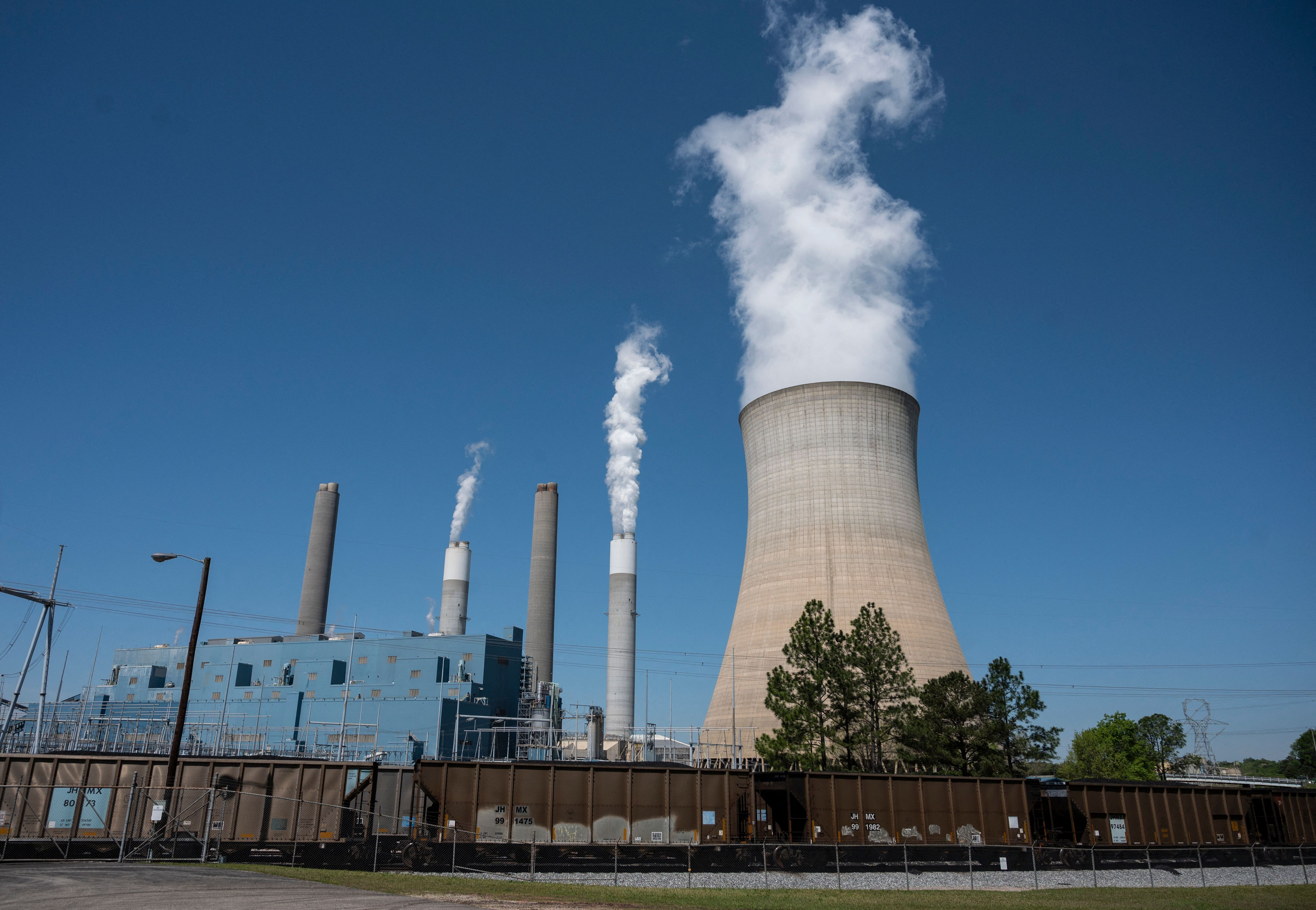 Steam rises from the Miller coal Power Plant in Adamsville, Alabama, on April 13. Power stations like this would likely need