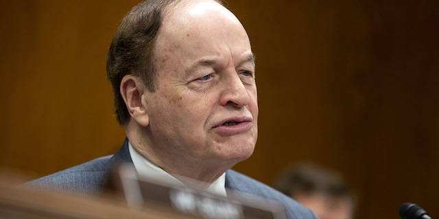Senator Richard Shelby, a Republican from Alabama, speaks during a Senate Appropriations Subcommittee meeting. (Stefani Reynolds/Bloomberg via Getty Images)