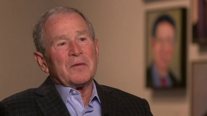 Former President Bush calls border security 'touchstone issue' in interview with Dana Perino