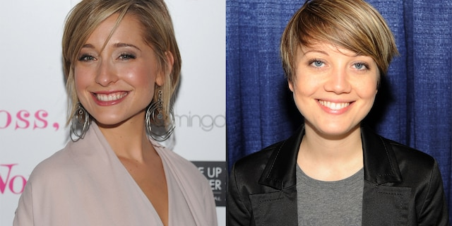 Allison Mack (left) filed for divorce from her wife Nicki Clyne (right) as the former 'Smallville' star remains on house arrest in California.