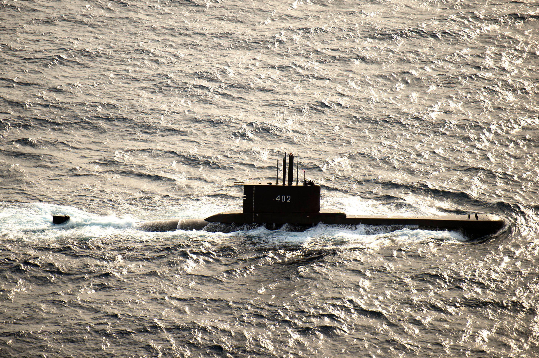 JAVA SEA (Aug. 8, 2015) The Indonesian submarine KRI Nanggala (402) participates in a photo exercise during Cooperation Afloa