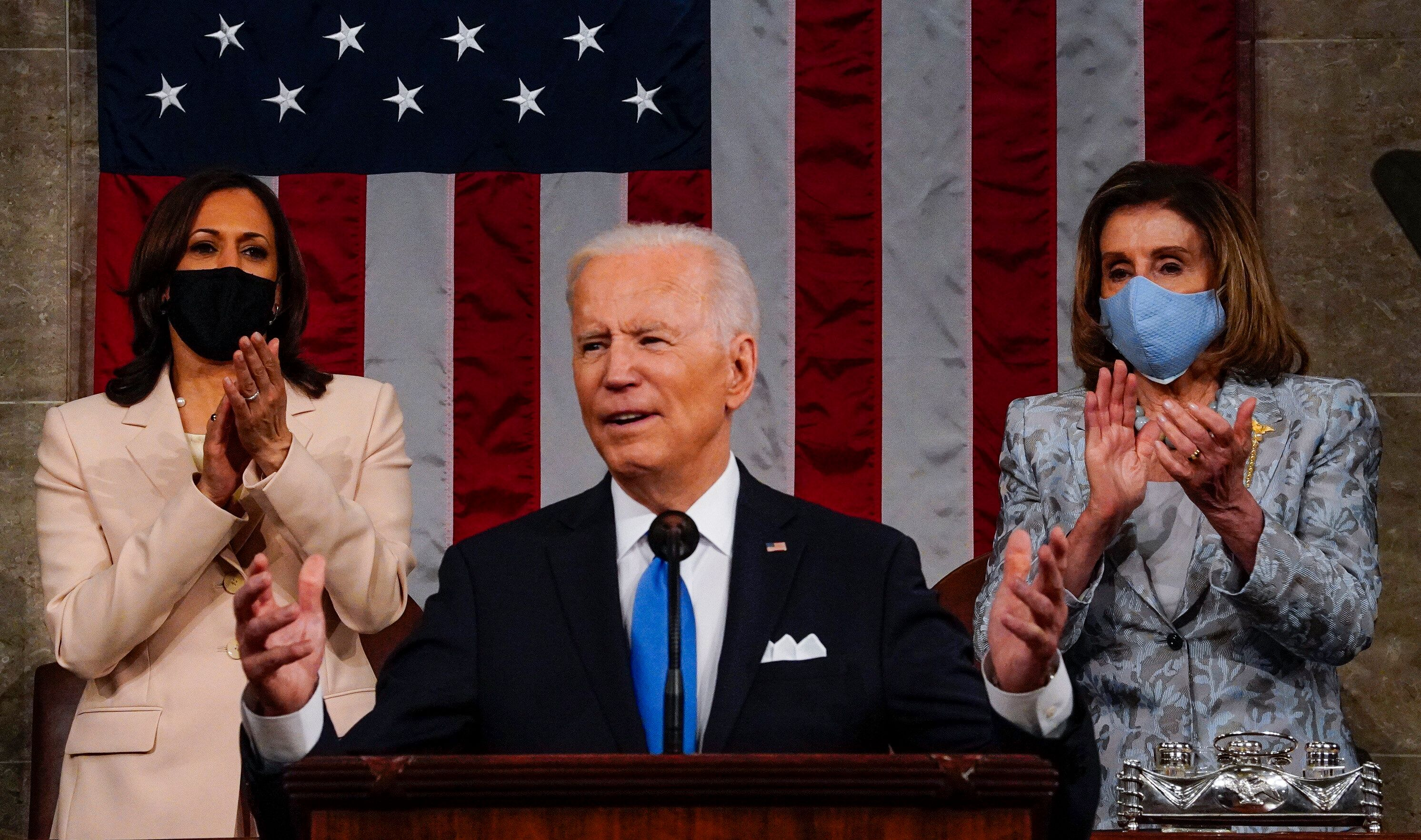 """President Joe Biden told a joint session of Congress that he intends to enact his agenda. """"I just want to be clear: From my p"""