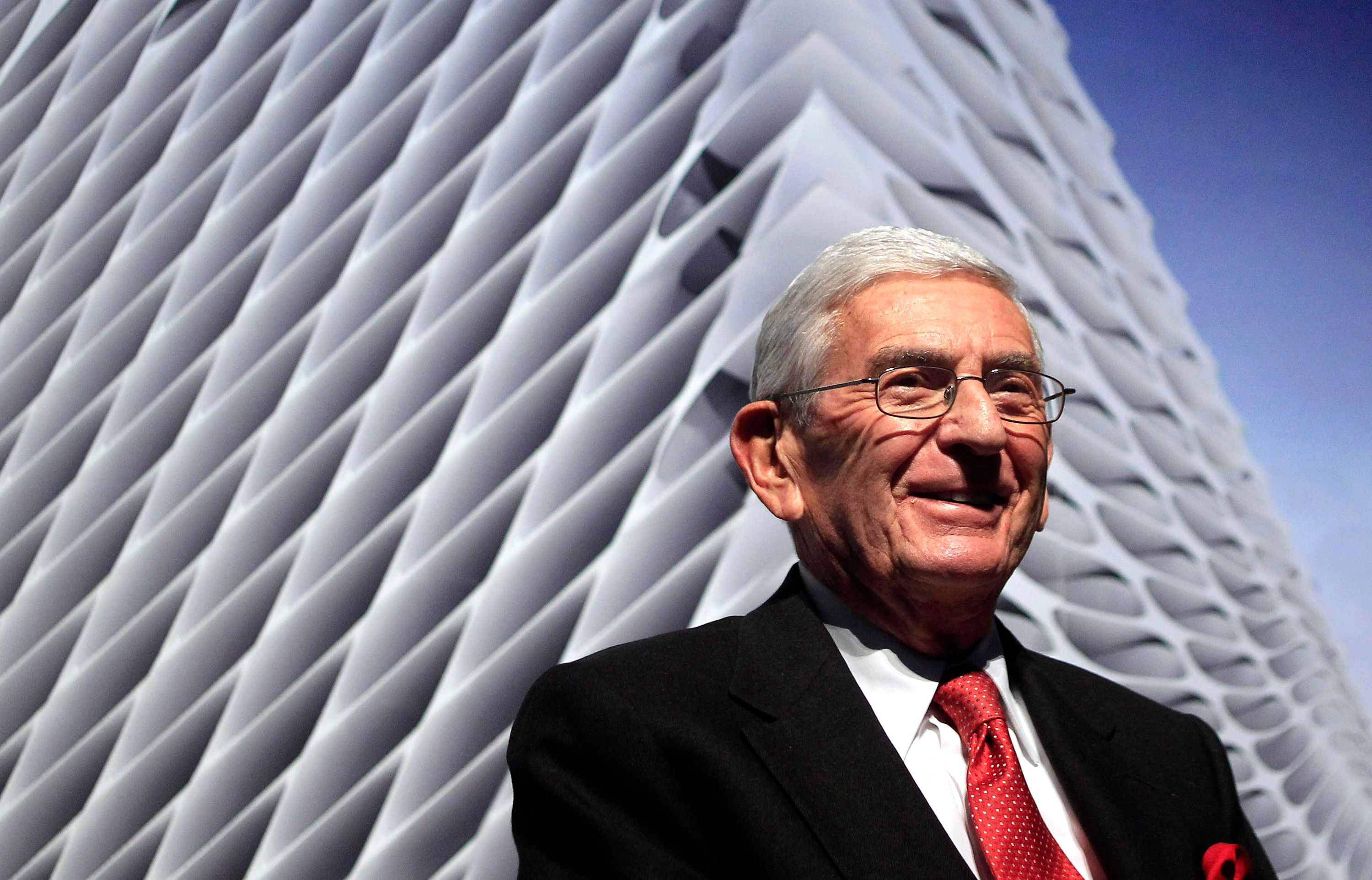In this Thursday, Jan. 6, 2011, file photo, Billionaire Eli Broad attends the unveiling of the Broad Art Foundation contempor