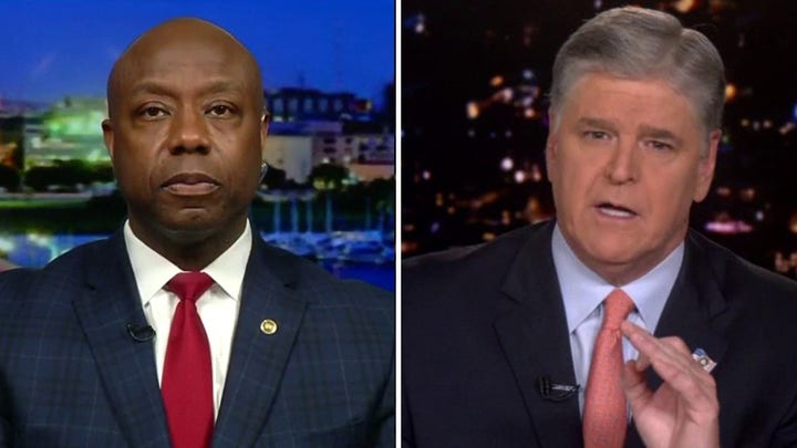 Sen. Tim Scott tells 'Hannity' the left fights bigotry with bigotry