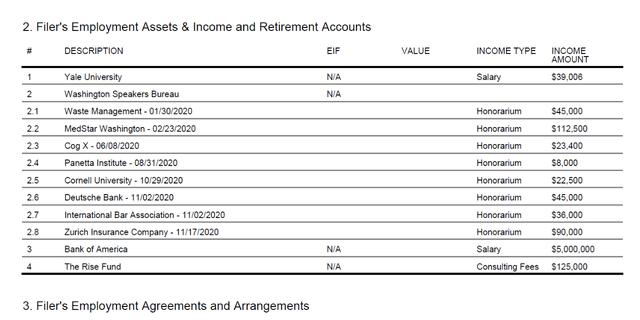 A screenshot of John Kerry's OGE Form 278e.