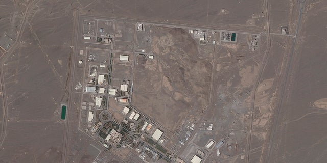 FILE - In this April 14, 2021, file satellite photo provided from Planet Labs Inc. shows Iran's Natanz nuclear facility. (Planet Labs via AP)