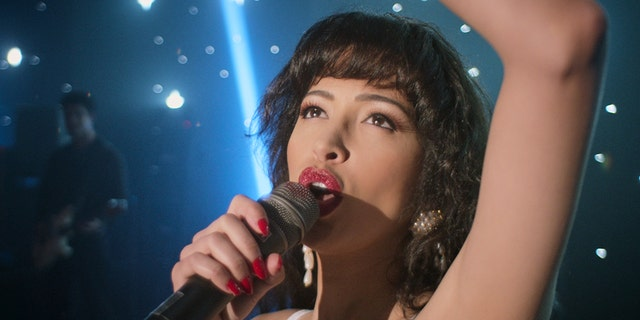 Christian Serratos as Selena Quintanilla in the Netflix series