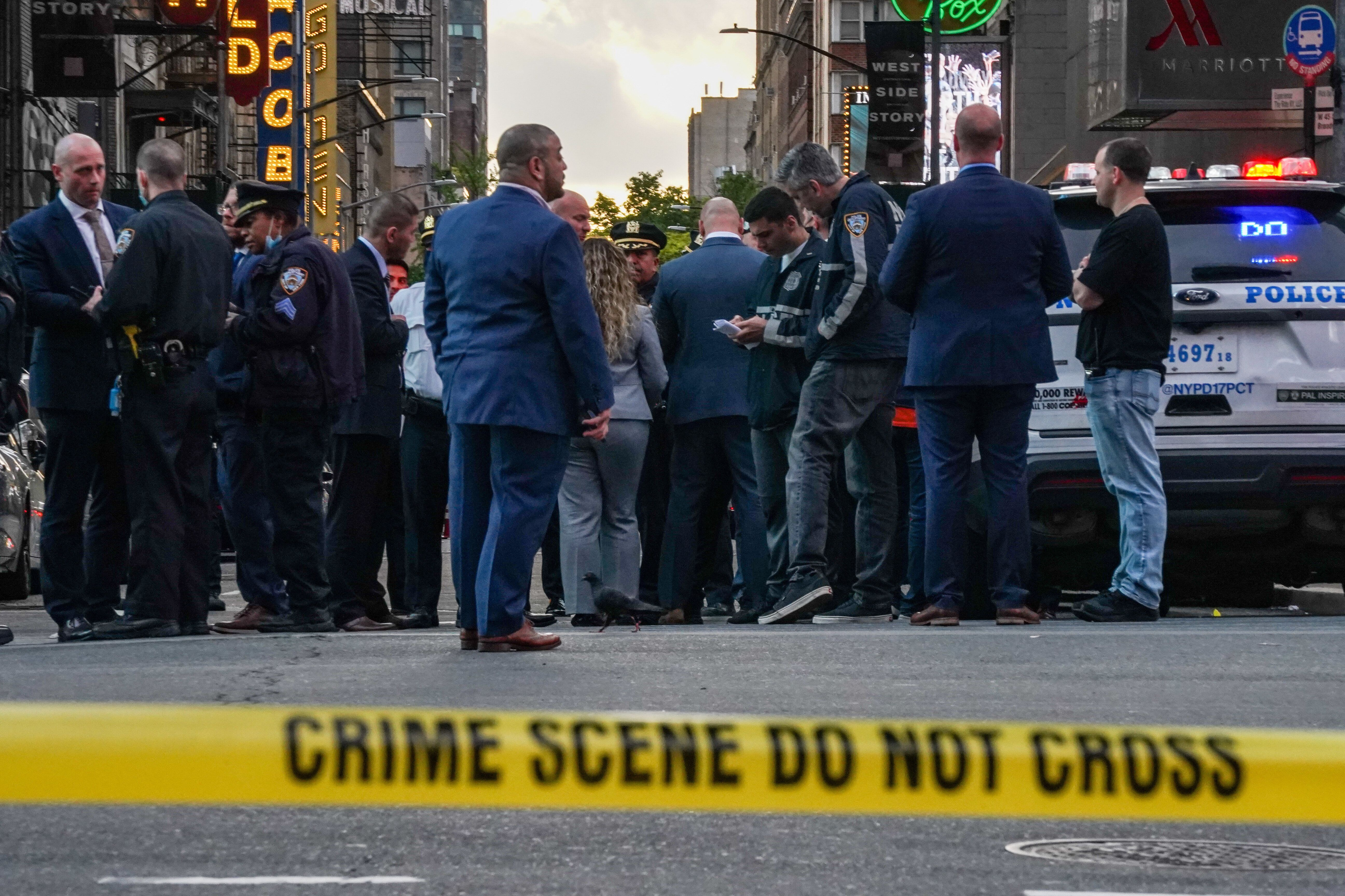 New York City's Times Square on Saturday after a shooting left three people injured.