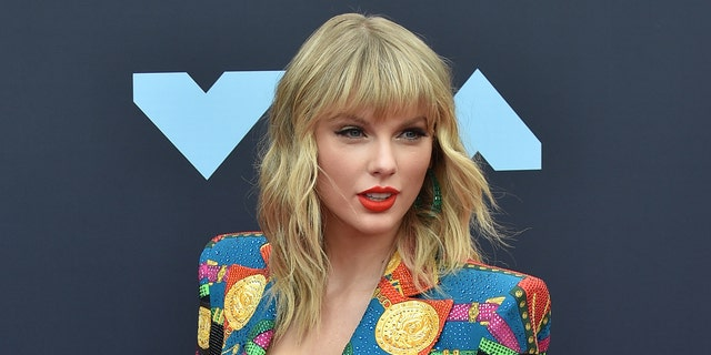 Taylor Swift has received the BRIT global icon award. (Photo by Aaron J. Thornton/Getty Images)