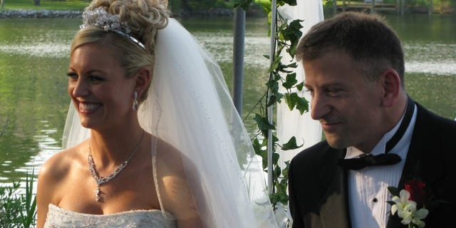 The two of us on our wedding day. May 16 is our anniversary.