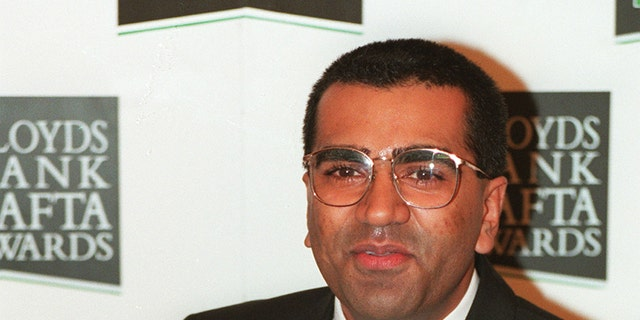 Television journalist Martin Bashir with the BAFTA Award he received for his interview with Princess Diana.