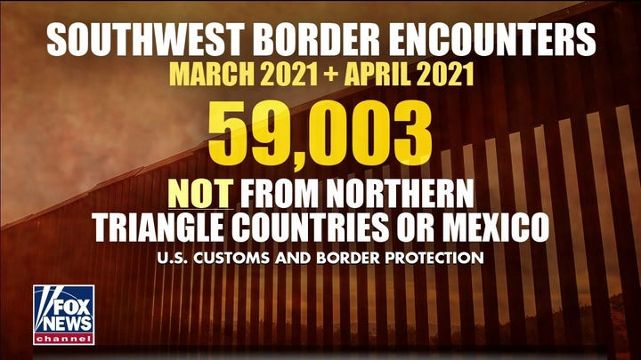 Nearly 60,000 illegal border crossings not from northern triangle, Mexico: CBP