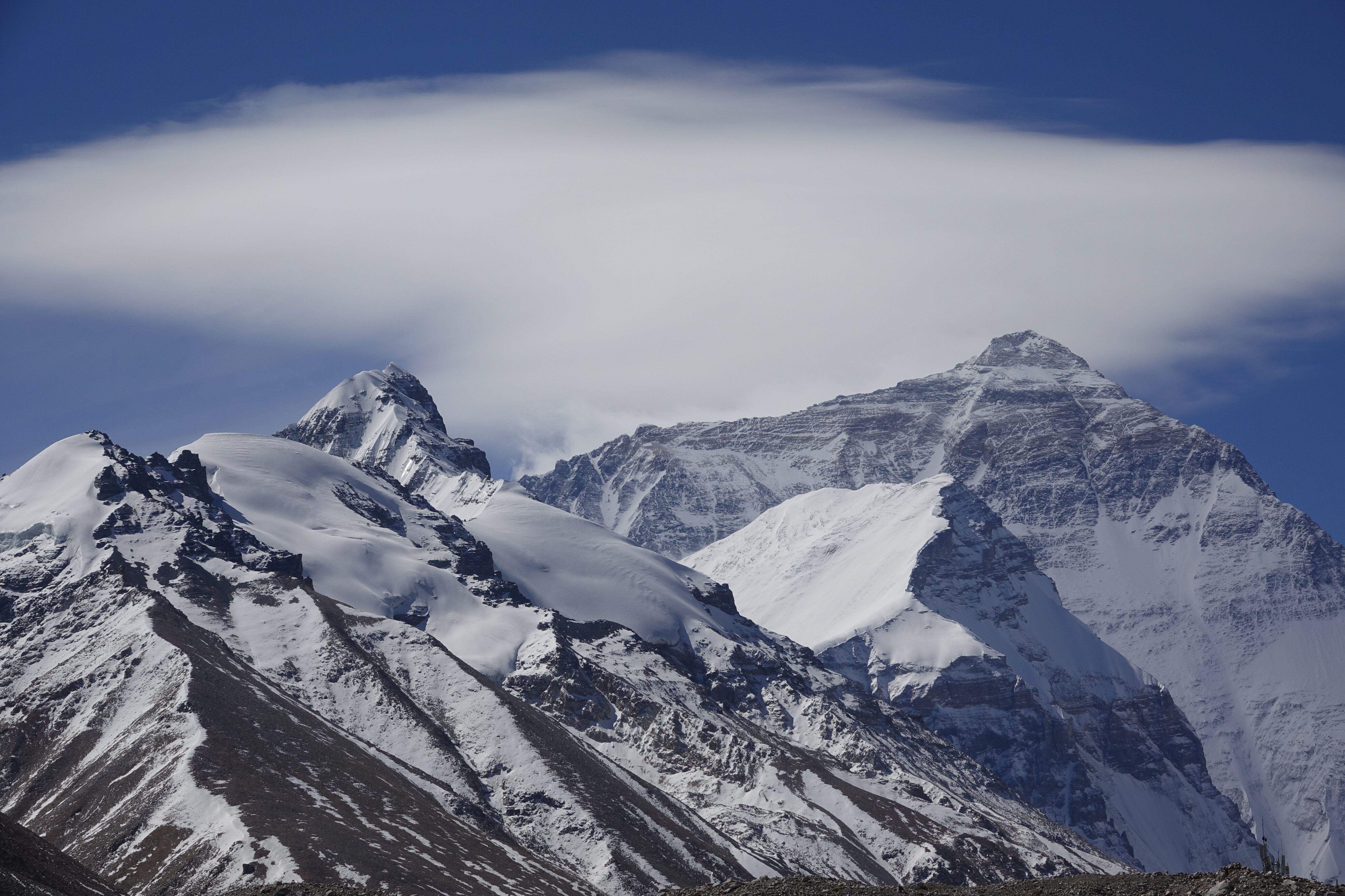 Mount Everest is pictured on May 9, 2021 in Shigatse, Tibet Autonomous Region of China. (Photo by Ran Wenjuan/China News Serv