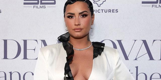 """BEVERLY HILLS, CALIFORNIA - MARCH 22: Demi Lovato attends the OBB Premiere Event for YouTube Originals Docuseries """"Demi Lovato: Dancing With The Devil"""" at The Beverly Hilton on March 22, 2021 in Beverly Hills, California."""
