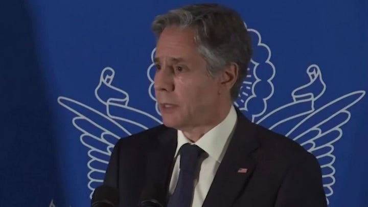 Blinken supports two-state solution for Israel-Palestinian conflict