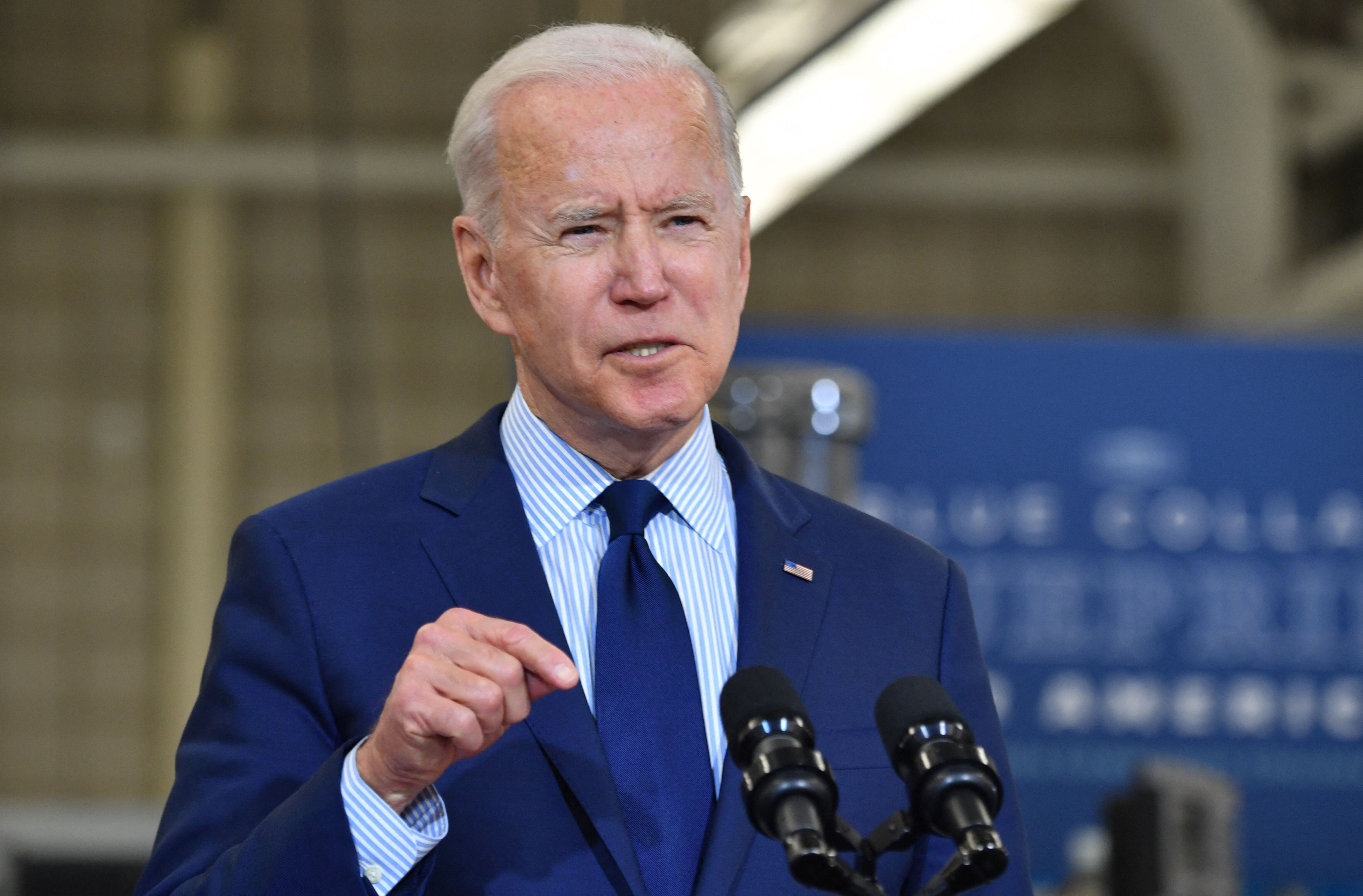 Biden speaks on the economy at Cuyahoga Community College Manufacturing Technology Center, on May 27, 2021, in Cleveland, Ohi