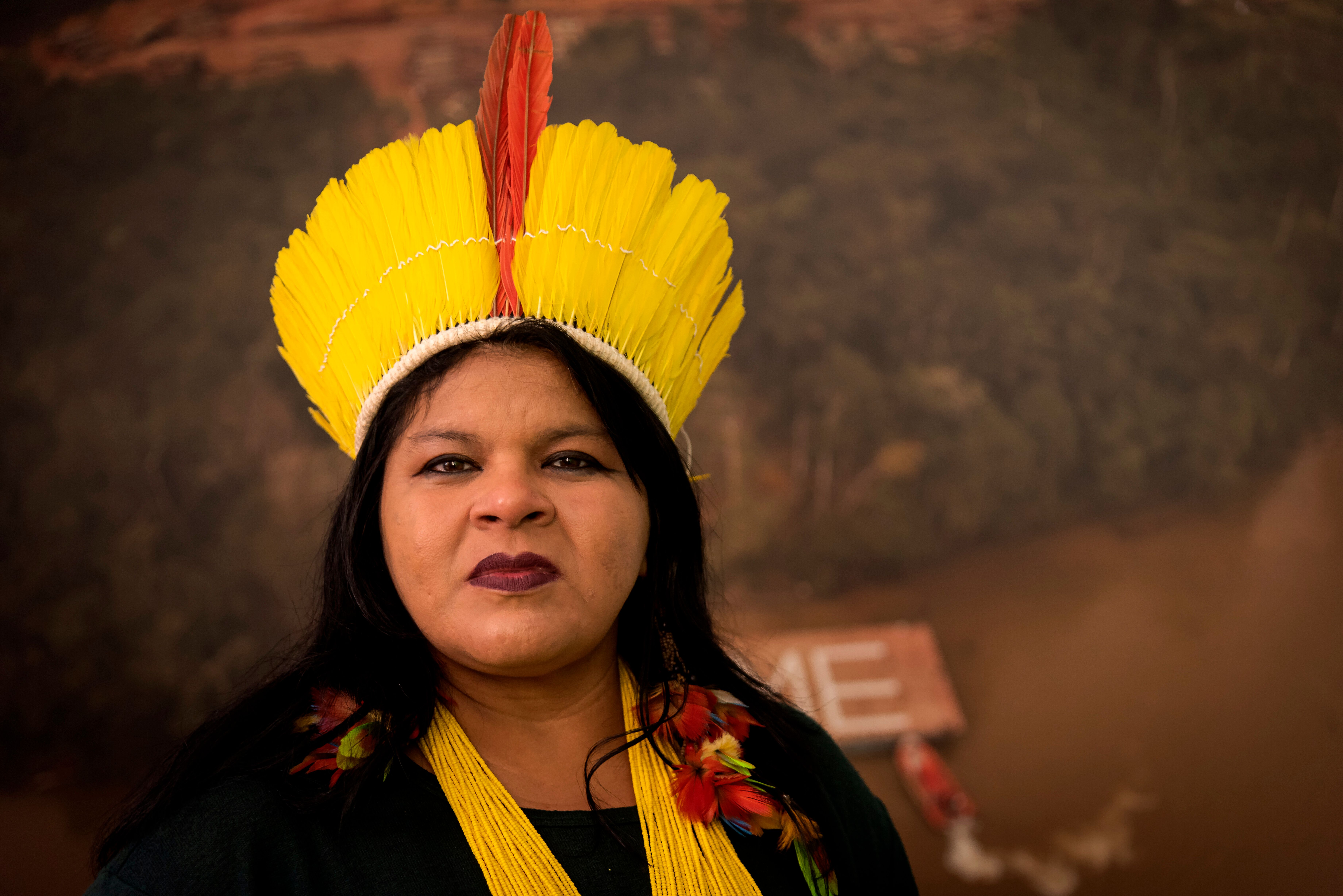 Sonia Guajajara, the leader of the Guajajara tribe and Brazil's largest Indigenous organization, was subpoenaed by the Brazil