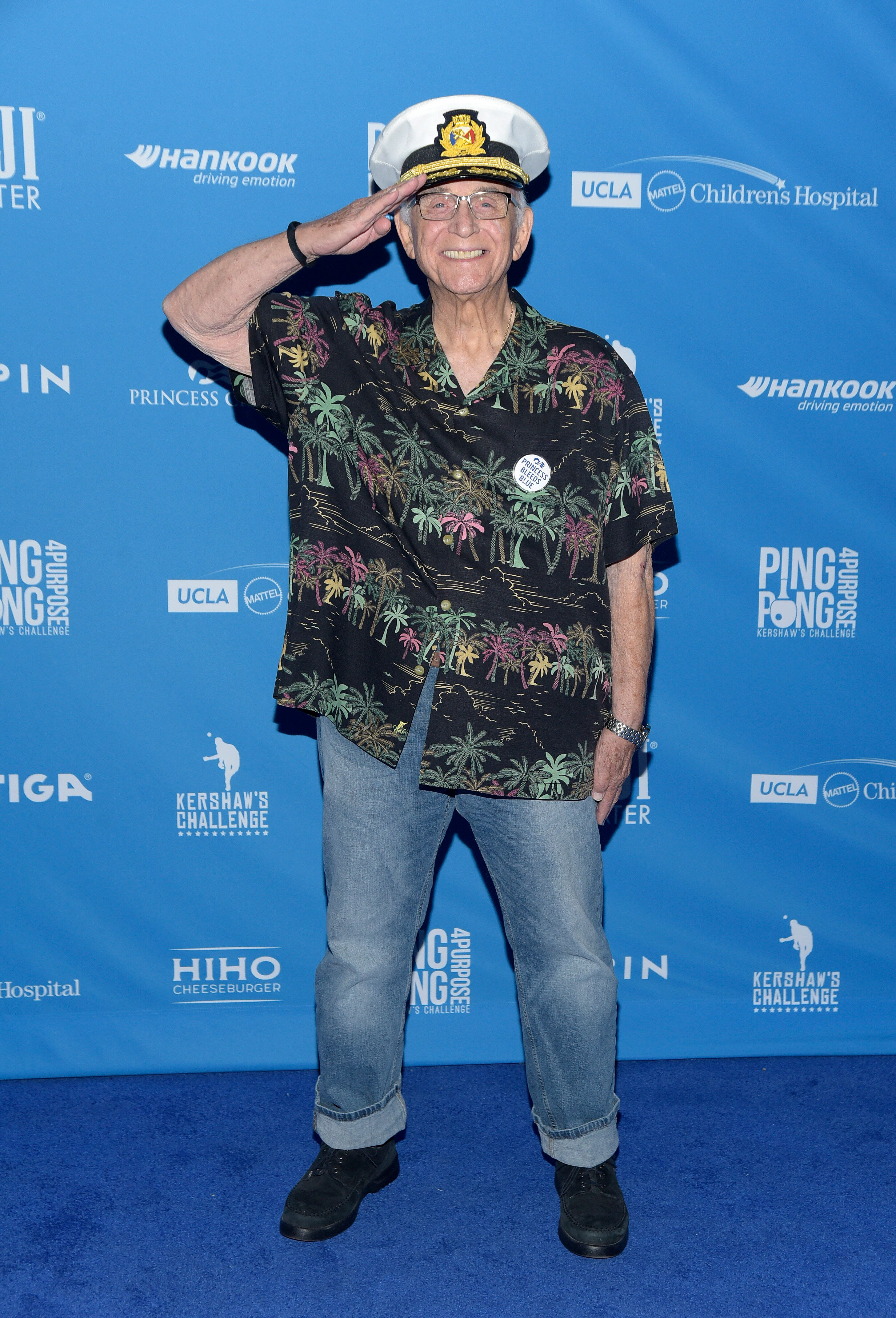 Actor Gavin MacLeod at the 7th annual Ping Pong 4 Purpose celebrity tournament fundraiser at Dodger Stadium on August 08, 201