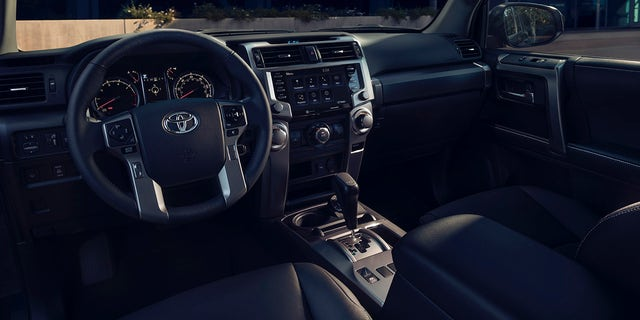 The 4Runner TRD Street features TRD logos and SofTex synthetic upholstery in the cabin.