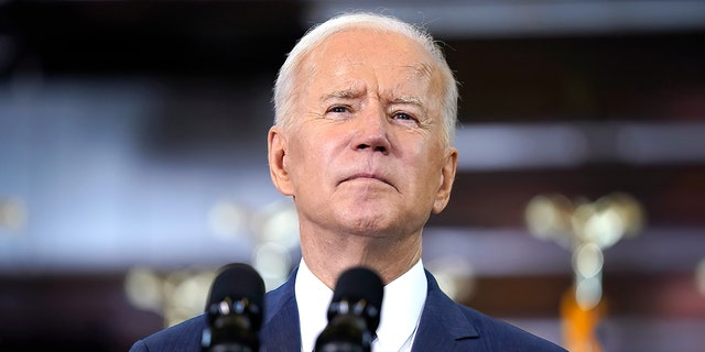 President Joe Biden delivers a speech on infrastructure spending at Carpenters Pittsburgh Training Center, Wednesday, March 31, 2021, in Pittsburgh. Negotiations between Biden and Senate Republicans on a potential infrastructure package are ongoing. (AP Photo/Evan Vucci)