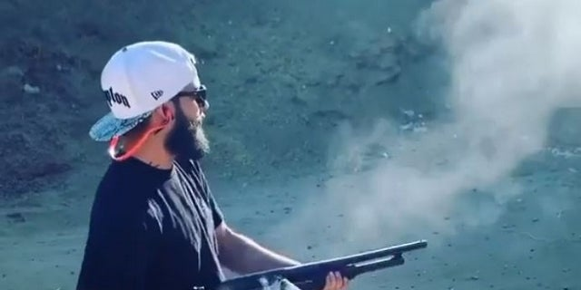 The Instagram account operated by Marcus Eriz, 24, features several videos of him shooting firearms.