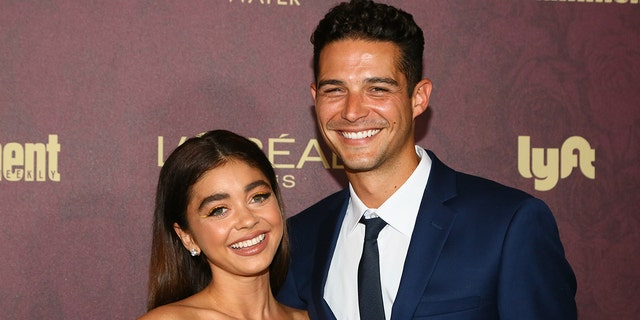 Actress Sarah Hyland and Wells Adams are among those that could take over as hosts of the 'Bachelor' franchise. (Photo by Gabriel Olsen/Getty Images)