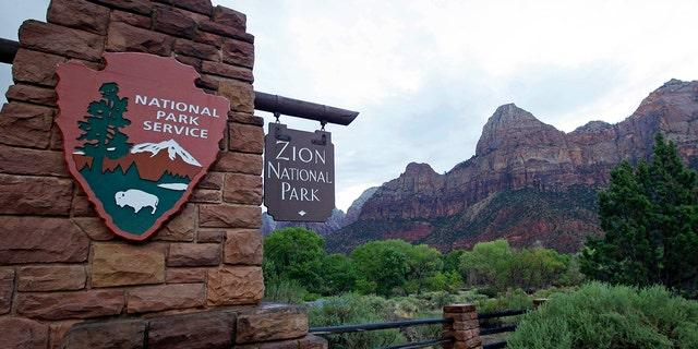 Zion National Park near Springdale, Utah on Sept. 15, 2015. (AP Photo/Rick Bowmer, File)