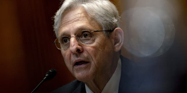 Attorney General Merrick Garland speaks during a Senate Appropriations Subcommittee on Commerce, Justice, Science, and Related Agencies hearing, Wednesday, June 9, 2021, on Capitol Hill in Washington. (Stefani Reynolds/The New York Times)