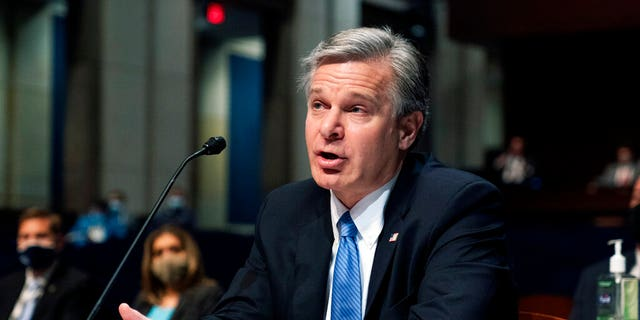 June 10, 2021: Federal Bureau of Investigation (FBI) Director Christopher Wray testifies before the House Judiciary Committee oversight hearing on the Federal Bureau of Investigation on Capitol Hill in Washington. (AP Photo/Manuel Balce Ceneta)